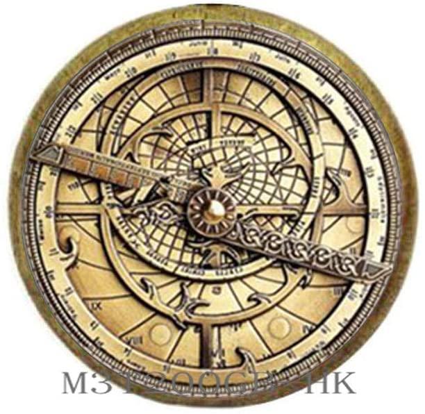 Botewo0lbei Steampunk Mysteries Wheel Brooch Glass Mens Astrolabe Women Best Friends Pin-MT256