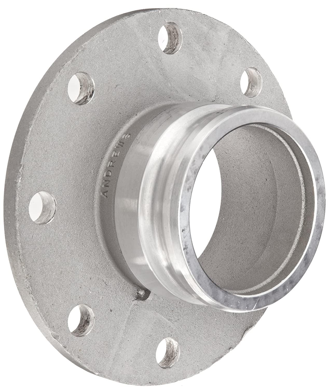 Dixon 600-AL-AL Aluminum Cam and Groove Hose Fitting, 6 Plug x 150# ASA Flange