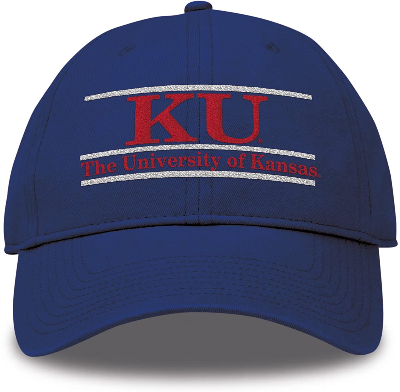 NCAA Kansas Jayhawks Unisex Classic Relaxed Twill Hat, Royal, Adjustable