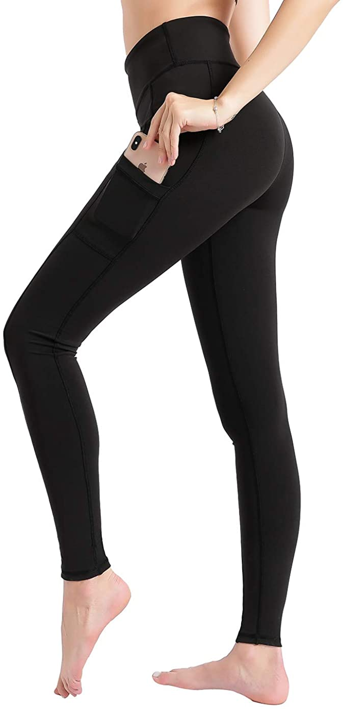 JOINHOP - Women Yoga Pants High Waist Tummy Control Leggings with Side Pockets Squat Proof