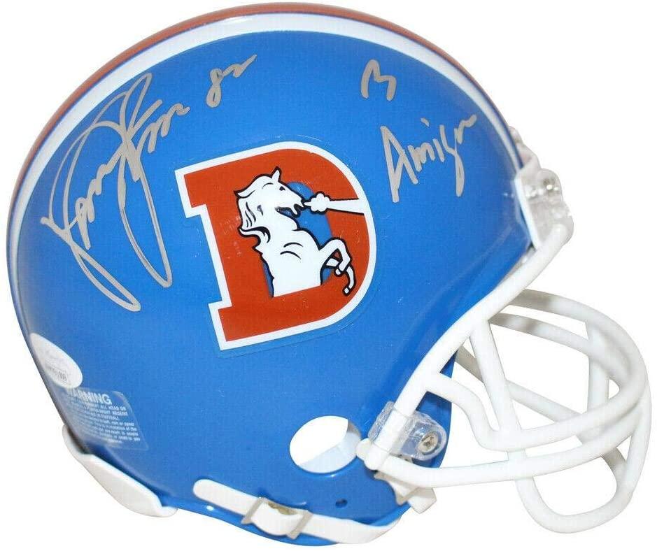 Vance Johnson Signed Mini Helmet - D Logo 3 Amigos 26090 - JSA Certified - Autographed NFL Mini Helmets