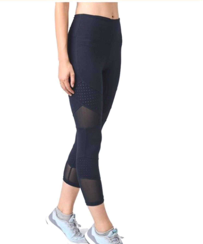 Mono B Yoga Leggings High Waist Pockets Activewear Tummy Control Workout Pants