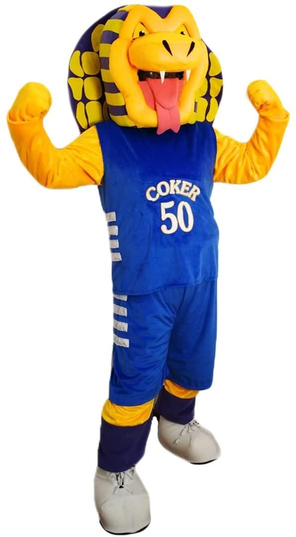 Sport Cobra Mascot Costume Cartoon Character Adult Sz Real Picture