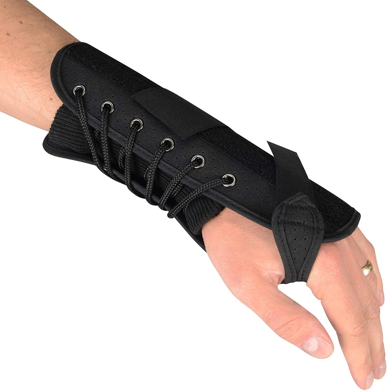 Luxury Quick Lace 7 Compression Splint Support Wrist Brace - Right Hand - M