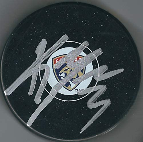 Autographed Keith Yandle Florida Panthers Hockey Puck