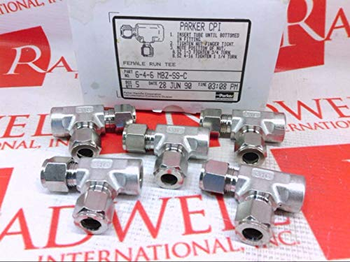 TUBE FITTINGS DIVISION 6-4-6-MBZSSC CPI - Fitting, MIN Qty PURCH of 5 May BE Required