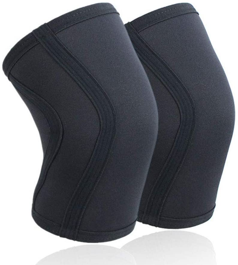 FANLI Professional Sports Knee Pads, Breathable Knee Sleeve Elastic Thick Protection Knee Lightweight for Running Workout-Black S