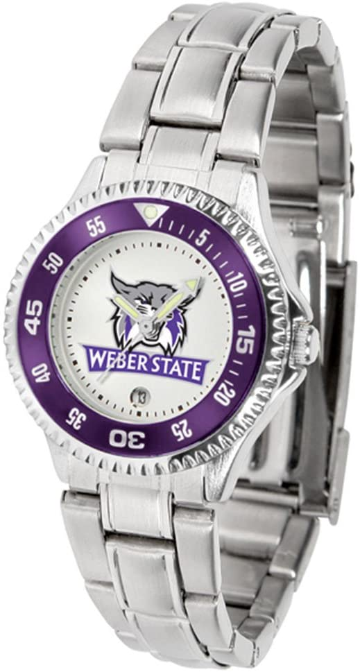 SunTime Weber State Wildcats Competitor Ladies Watch with Steel Band
