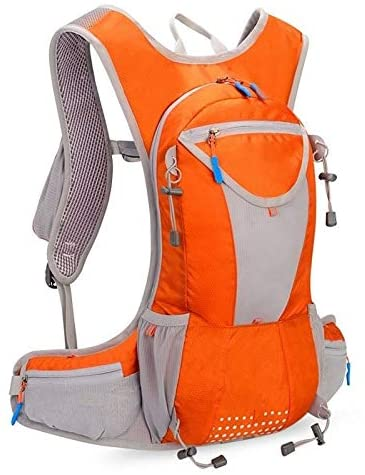GFXZ Fashion Bicycle Backpack, Ideal Waterproof and Breathable Large-Capacity Bicycle Bag, Ultra-Light Portable Backpack for Hiking Running Cycling Travel Climbing Enjoy Riding (Color : Orange)