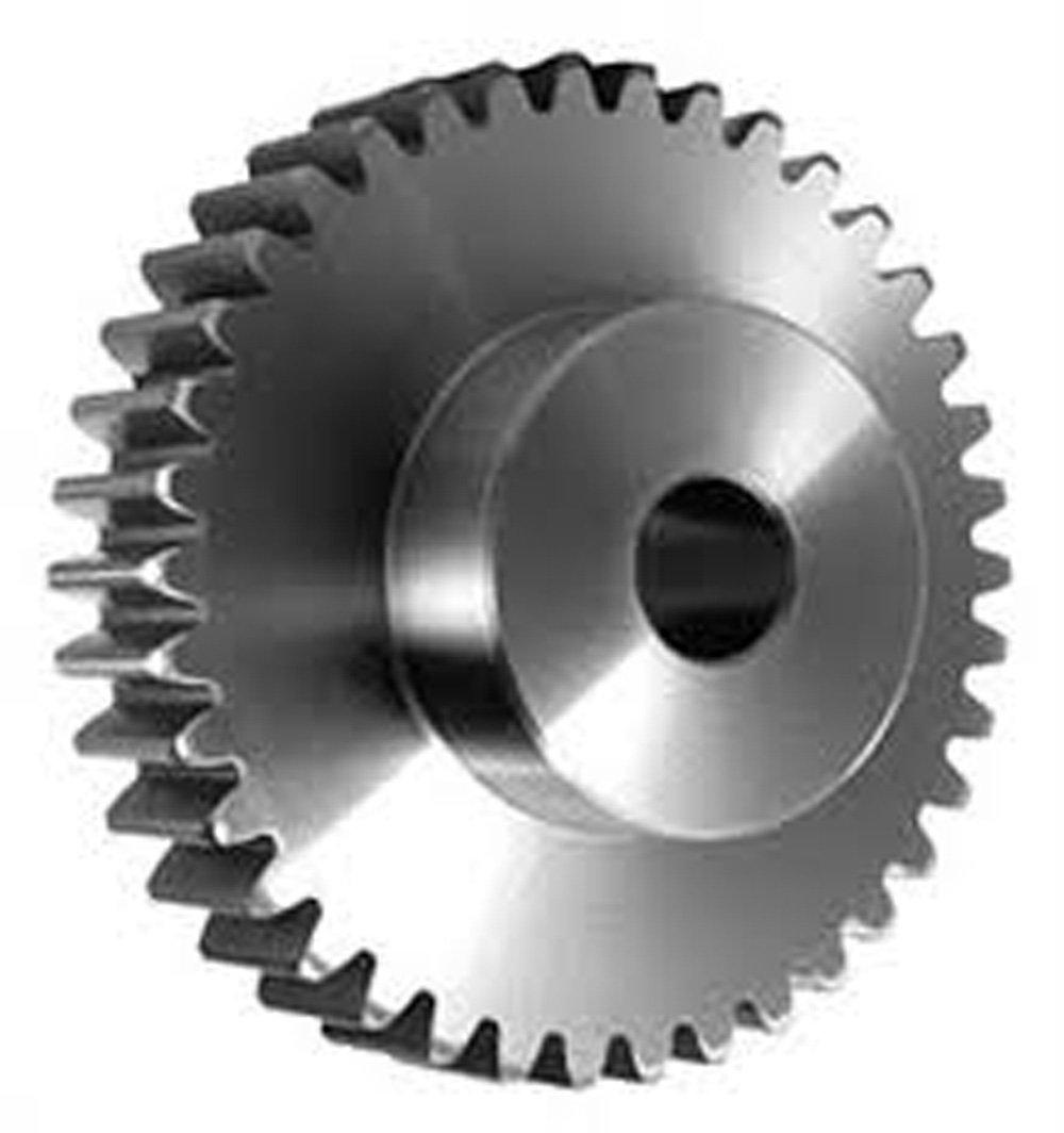 SSM4B20 Ametric® Metric Minimum Plain Bore Stainless Steel Spur Gear with Hub, 4 Metric Module Tooth Profile, 20 Teeth, 20 Degree Pressure Angle, 88 mm Outside Diameter, 50 mm Hub Diameter, 20 +/-1mm Pilot Bore, 32 mm Tooth Face Width, (Mfg Code 1-025)