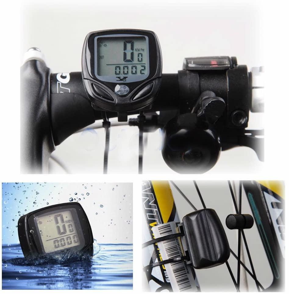Unbranded Waterproof Wireless Bike Bicycle Computer LCD Digital Cycle Odometer Speedometer