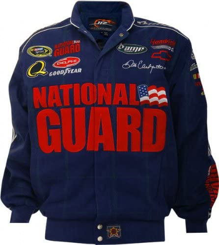 J.H. Design Dale Earnhardt Jr. #88 National Guard Blue Cotton Twill Jacket