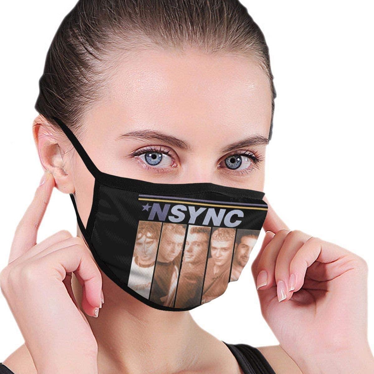 Qwtykeertyi NSYNC Fashion Protective Reusable Unisex Black Cotton Washable Balaclava