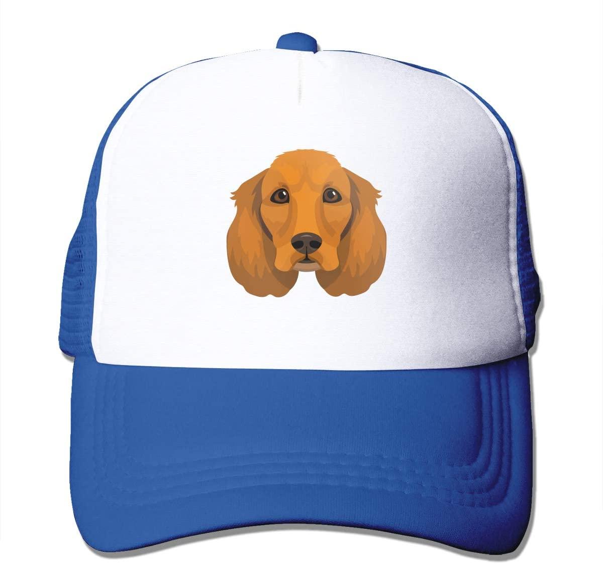 Adult Trucker Hat Spaniel Custom Mesh Caps