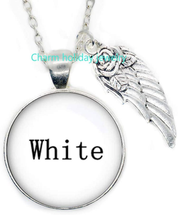 White Necklace Peace Love and Joy Jewelry Nothing is Black and White Make a Statement Truth is subjective Love is Everything Love to All-#330