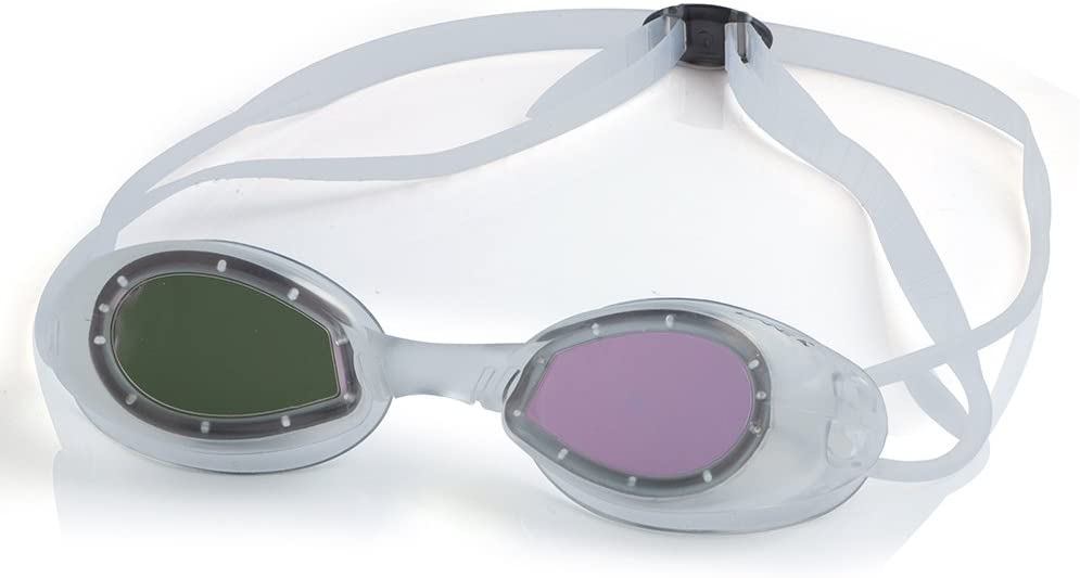 LANE 4 Junior Swim Goggle – One-Piece Frame Soft Seals, Anti-Fog UV Protection, No Leaking Easy Adjustment Quick Fit Comfortable for Junior Children Kids A707 (Clear)