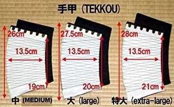 Tekko (Wrist Coverings) with Kohaze (Metal Fasteners)