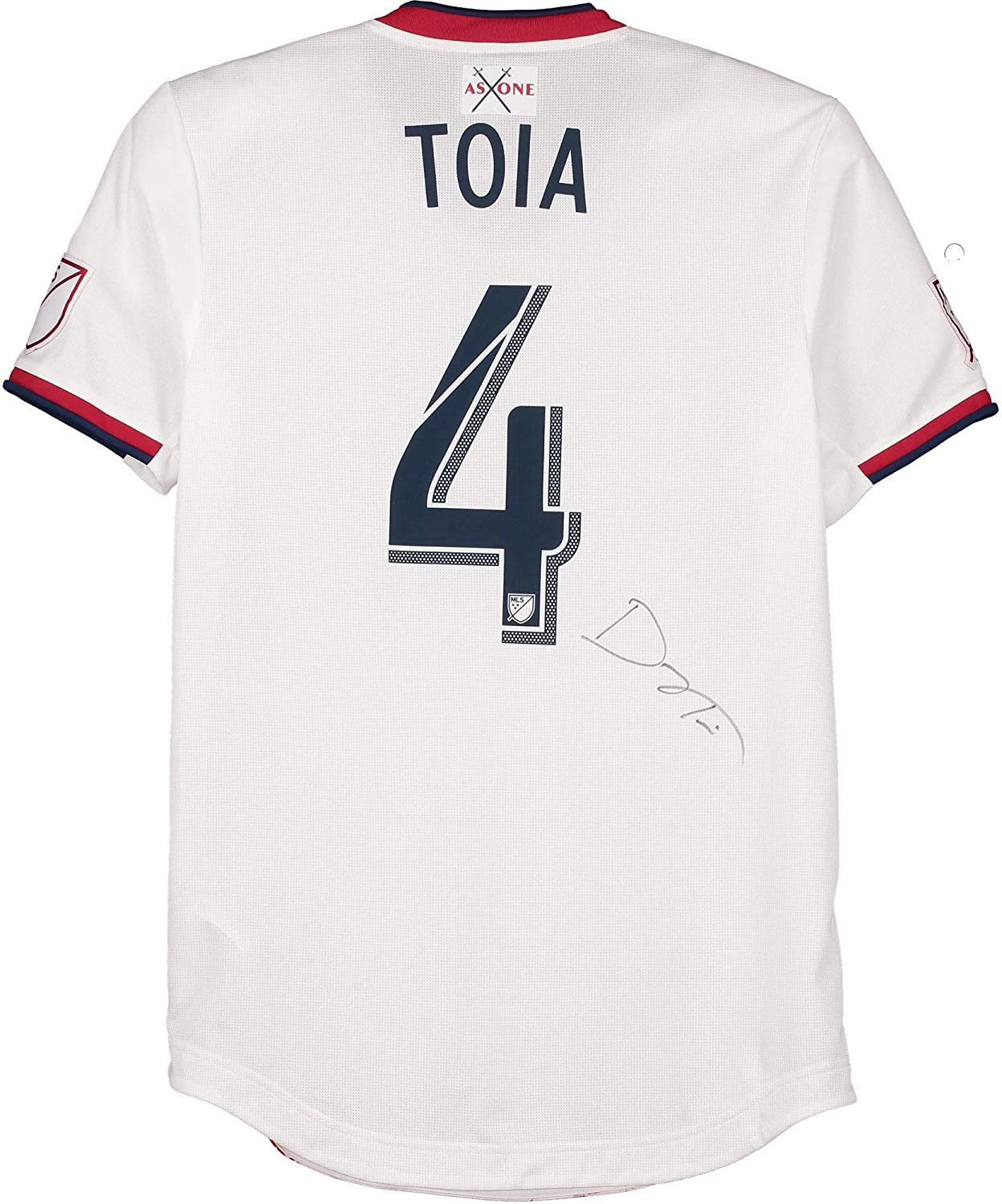 Donny Toia Real Salt Lake Autographed Match-Used #4 White Jersey from the 2019 MLS Season - Fanatics Authentic Certified