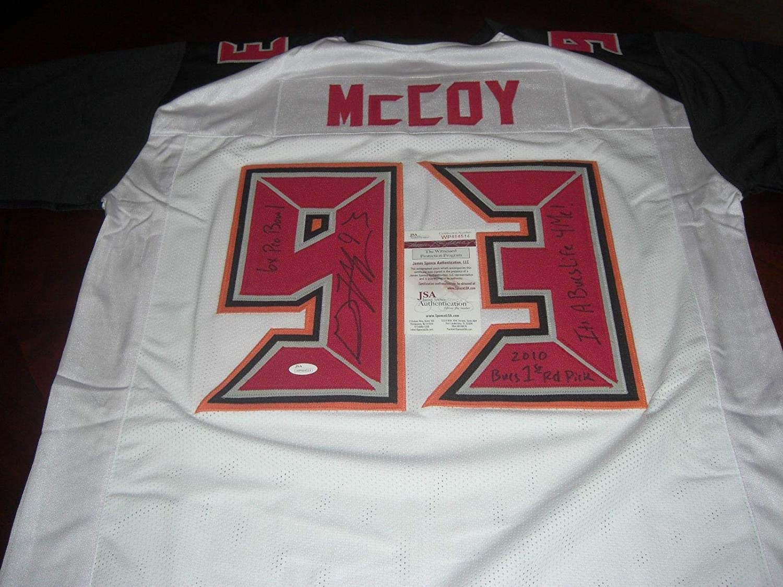 Autographed Gerald McCoy Jersey - Its A Bucs Life 4 Me 6x Probowl coa - JSA Certified - Autographed NFL Jerseys