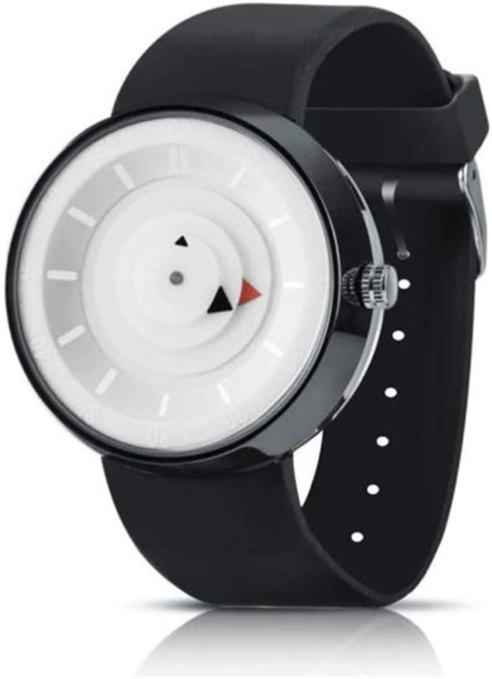 SheShiLs Harajuku Style C y Color Silica Gel Watch Men's Luxury Stainless Steel Analog Quartz Sport Wrist Watch