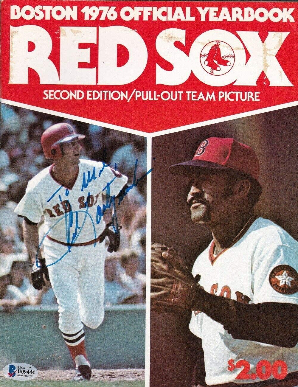 Carl Yastrzemski Autographed Signed Boston 1976 Official Yearbook Magazine Beckett