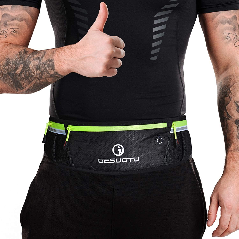 Fanny Pack - Running Belt for Men Women - Comfortable Phone Holder for Running Accessories, Adjustable Waist Pack Bag Belt Pouch for Fitness Workout Marathon Fits iPhone 11 XR XS MAX Samsung - Black