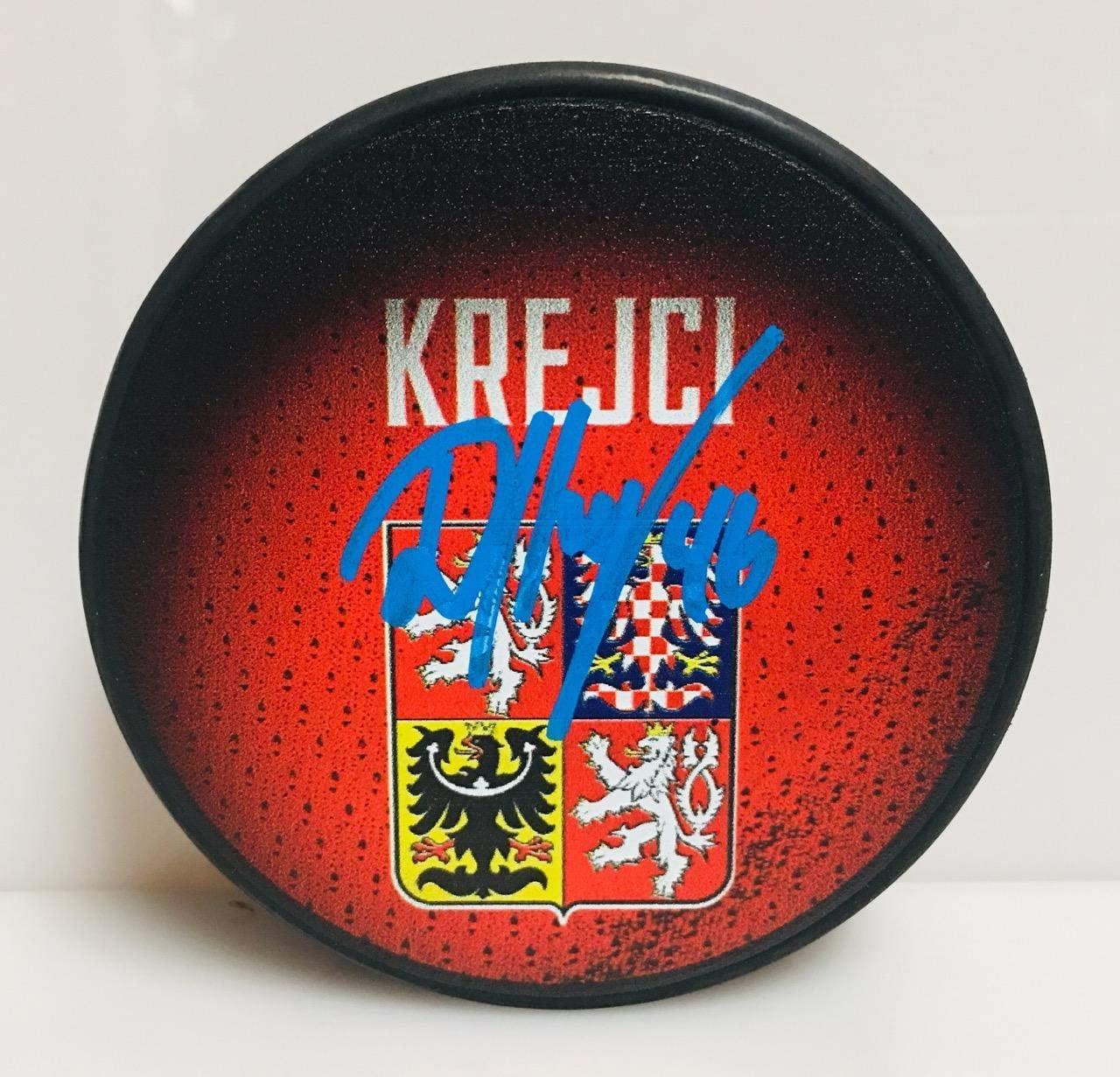 David Krejci Boston Bruins Signed World Cup of Hockey Czech Hockey Puck