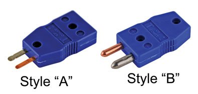 CHEMGLA - Adapter- Type K (Yellow) Male Standard to Female Mini STYLE A - FLAT PRONGS, EA1