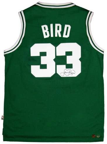 Larry Bird Signed Official NBA Green Celtics Adidas Basketball Jersey