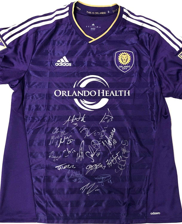 Orlando City SC 2019 Team Signed Soccer Jersey w/COA MLS Futbol XL Adidas Nani A - Autographed Soccer Jerseys
