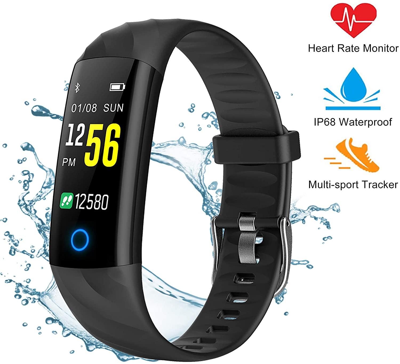 Pewant Fitness Tracker Smart Watch,IP68 Waterproof Activity Tracker Smart Watch with Heart Rate Blood Pressure Message Call Reminder Smartwatch for Women Men Kids,Bluetooth Touch Screen Sport Watch