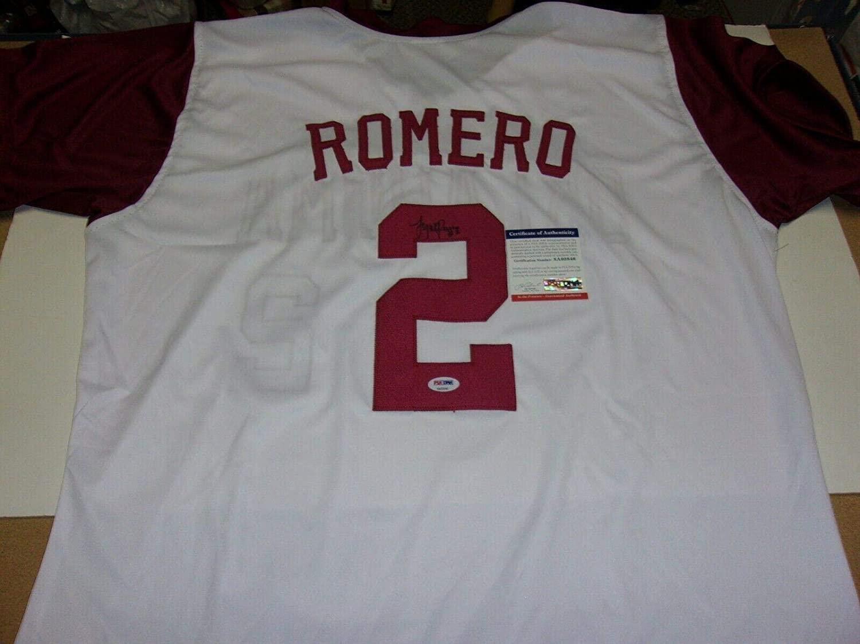 Sidney Romero Oklahoma Sooners Usa Softball coa Signed Jersey - JSA Certified - Autographed College Jerseys