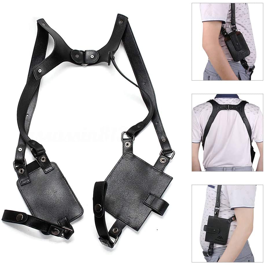 Neween Anti-Theft Hidden Underarm Strap Wallet Pocket Holster Phone Shoulder Holster Bag Leisure Double Shoulder Pouch