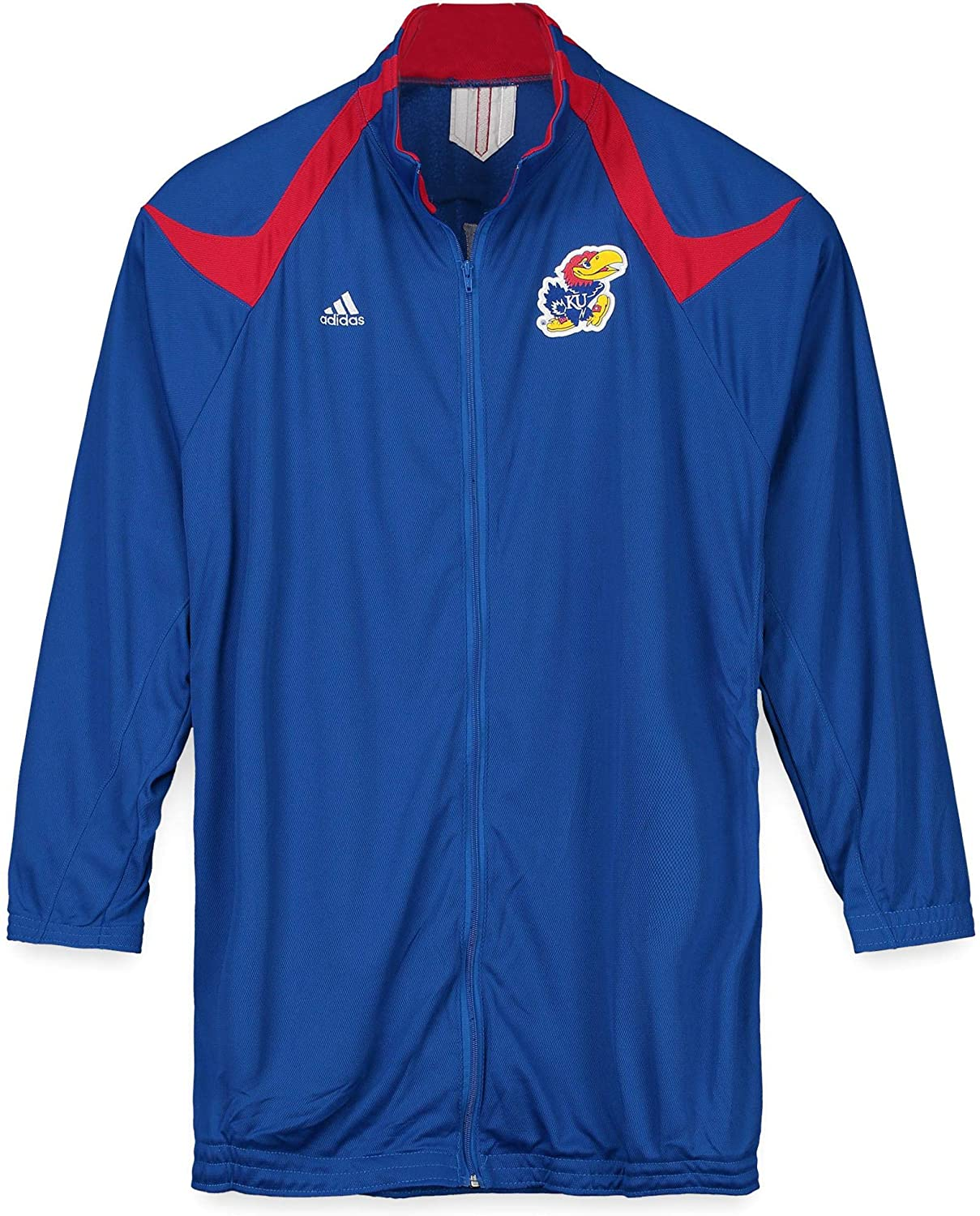 Kansas Jayhawks Team-Issued Blue and Red Short Sleeve Pullover from the Basketball Program - Fanatics Authentic Certified