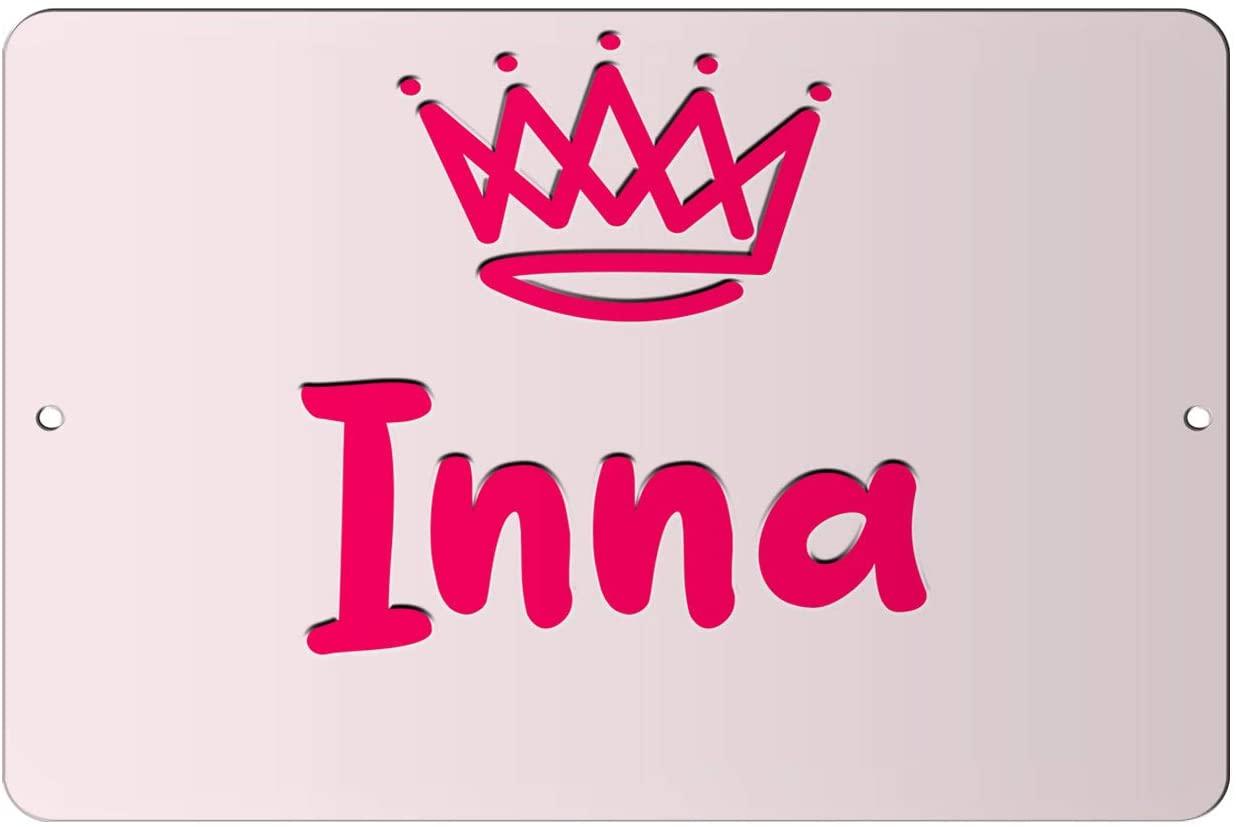 Makoroni - Inna Girl Female Name 12x18 inc Aluminum Decorative Wall Street Sign