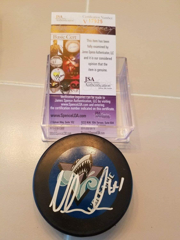 Vincent Lecavalier Autographed Signed Rimouski Oceanic Puck Lightning JSA COA