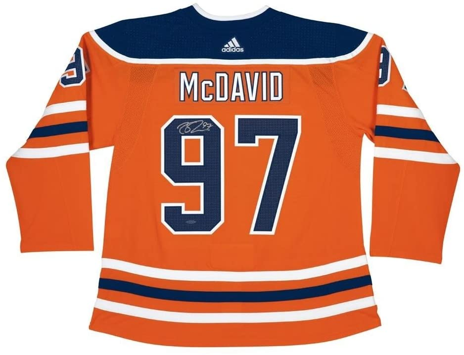 Autographed Connor McDavid Jersey - Adidas Orange - Upper Deck Certified - Autographed NHL Jerseys