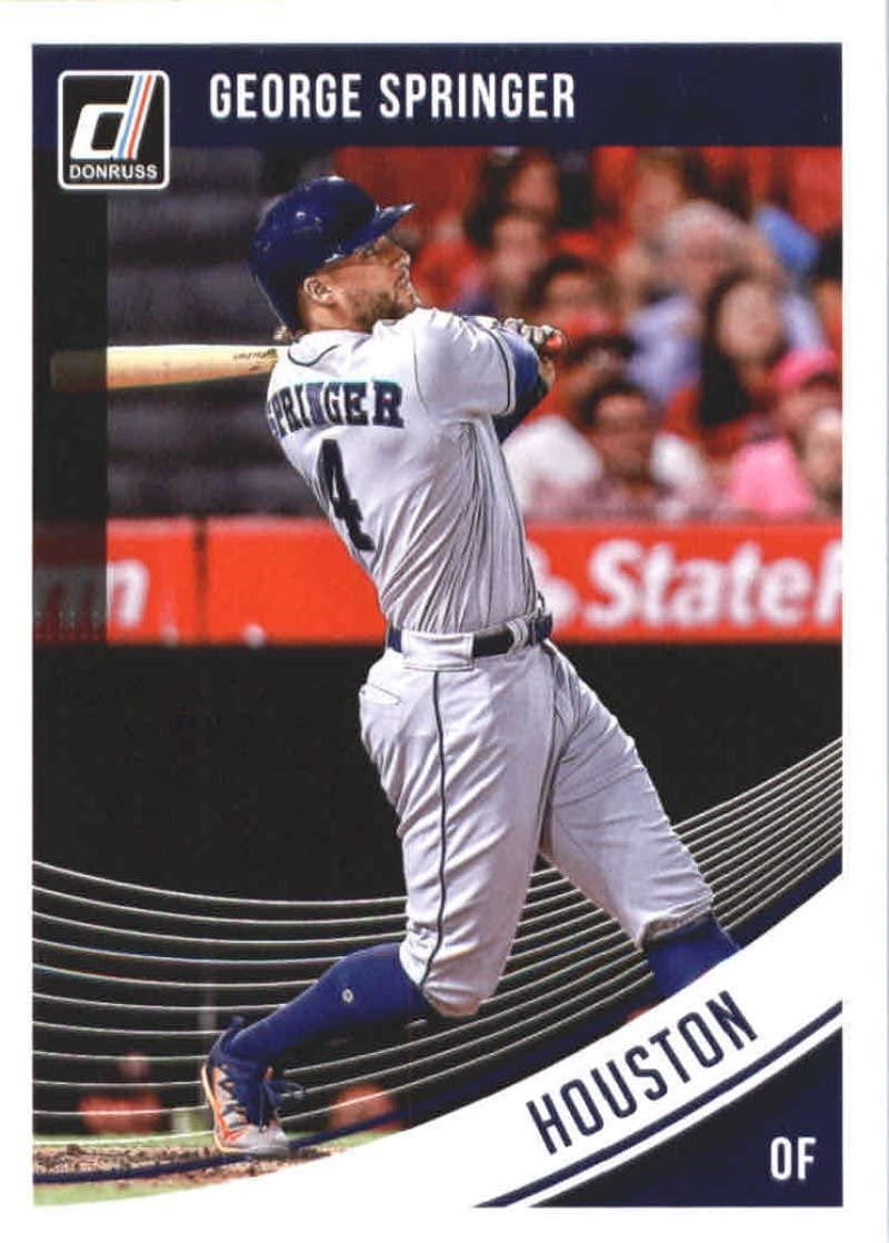 2018 Donruss #168 George Springer Houston Astros Baseball Card