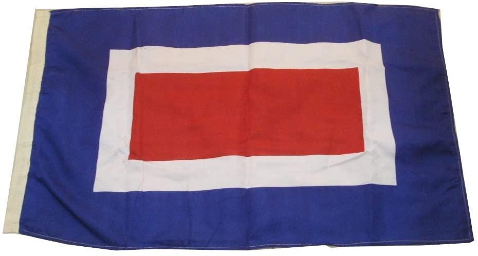 Brass Blessing W - Large International Maritime Signal Code Flag- 16