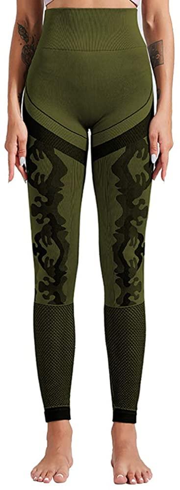 Womens Yoga Leggings High Waisted Camo Gym Fitness Legging Sport Pants Plus Size Yoga Pants