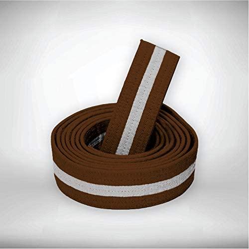 Sparring Sports Brown w/White Stripe Martial Arts Single Wrap Taekwondo/Karate Belt