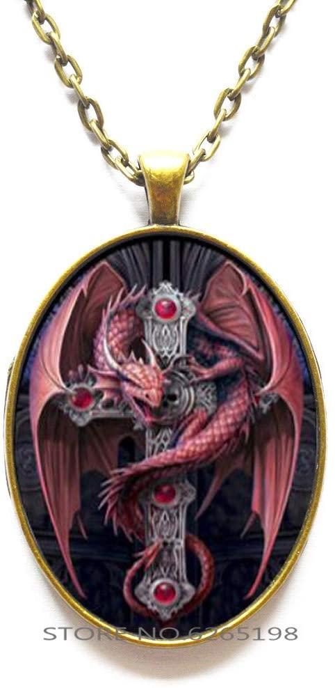 Dragon Necklace, Charm Necklace, Fairytale Dragon, Dragon Pendant, Dragon Jewelry, Fantasy Necklace, Fantasy Jewelry, Dragon Charm, Mythical,N051