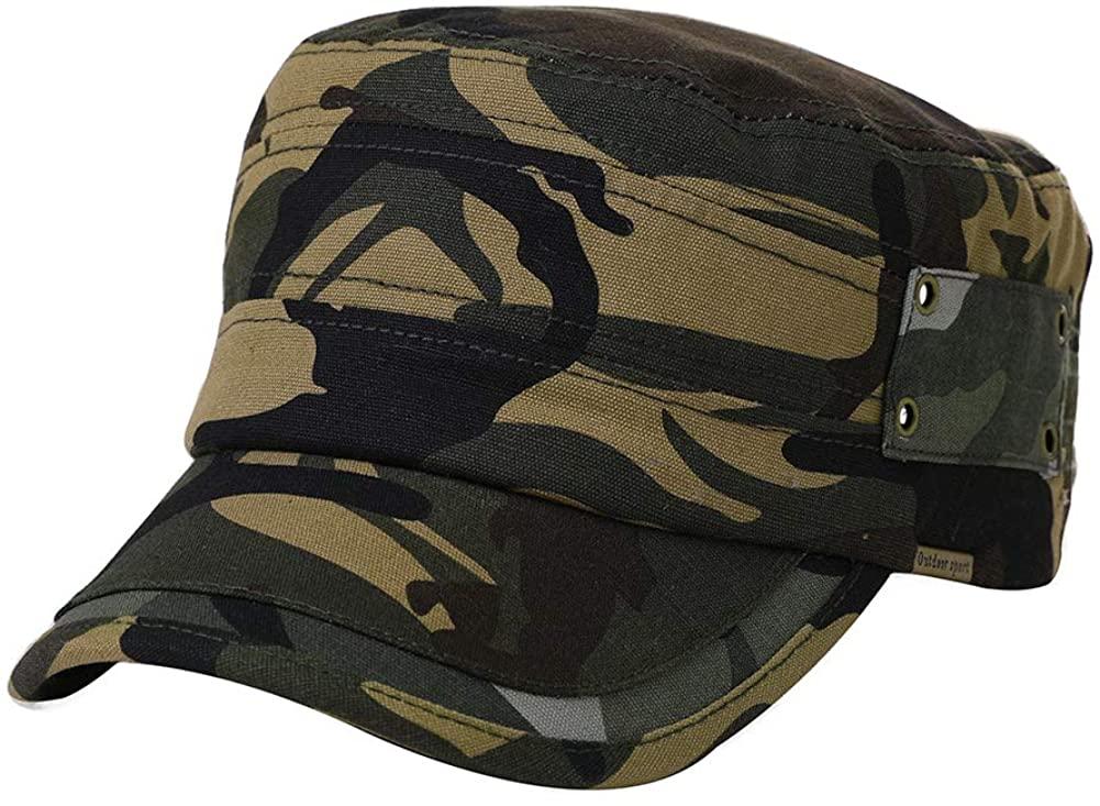 Womens Army Cap Military Sun Hat Men Large Baseball Cadet Camouflage Camoflauge Camo Khaki 56-60cm