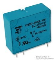 TE CONNECTIVITY V23057-B0006-A201 Relay, V23057 Series, Power - General Purpose, SPDT, 24 VDC, 8 A (5 pieces)
