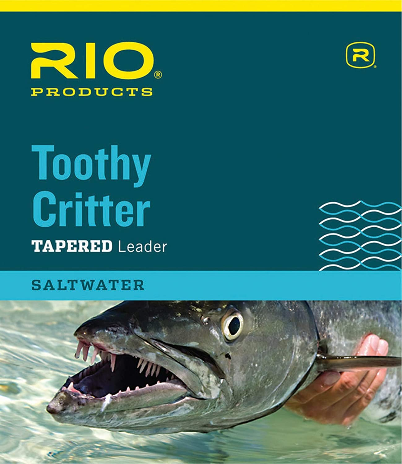RIO Products Leaders Toothy Critter II 7.5' 20Lb Class 15Lb Stainless Wire with Snap, Clear