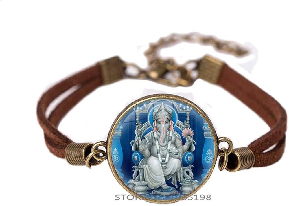 Ganesh Bracelet Ganesh Statue Zen Jewelry Ganesha Bangle Indian Jewelry Ganesh Sign Bangle Yoga Jewellery Meditation Boho Gift Spiritual,N387