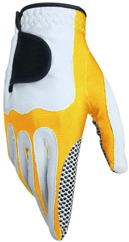 Binglinghua Mens Golf Gloves Sport Sweat Absorbent Microfiber Gloves Soft Breathable On Left Hand