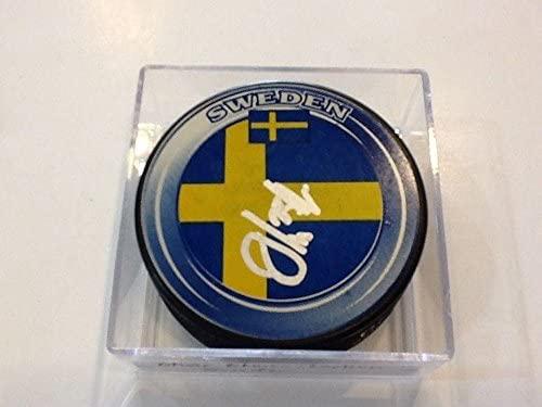 Oliver Ekman-Larsson Autographed Puck - Team Sweden b - Autographed NHL Pucks