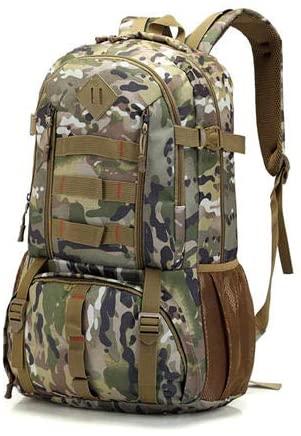 ZhaJunBag Camo Tactical Backpack Military Army 50L Waterproof Hiking Hunting Backpacks Travel Tourist Rucksack Outdoor Bag