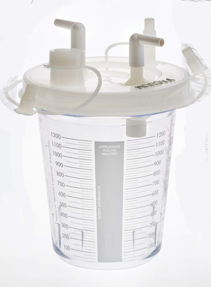 MediChoice Disposable Suction Canisters, Polycarbonate, 1200CC, Clear, 1314WFM1200D (Case of 32)